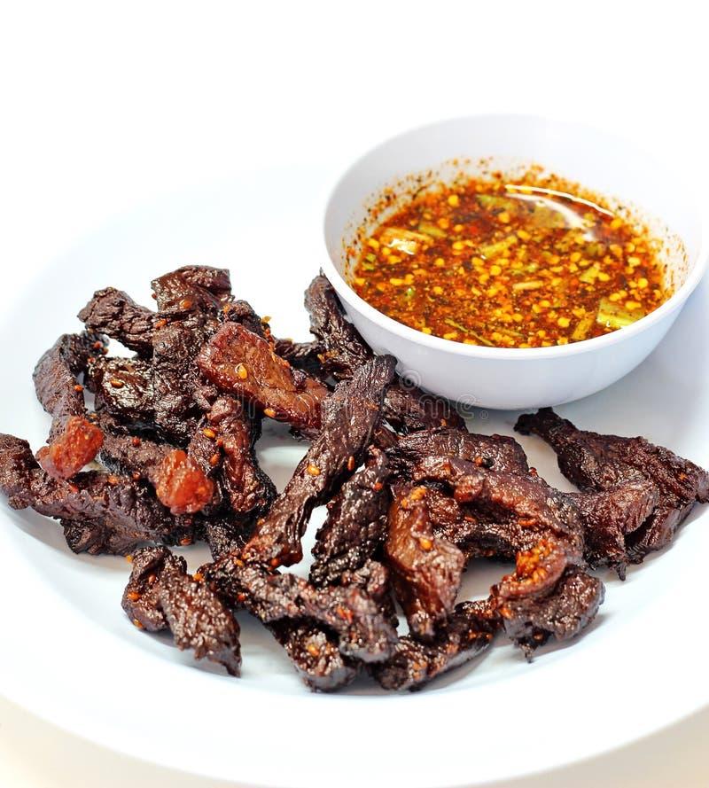 Thai beef jerky stock photo