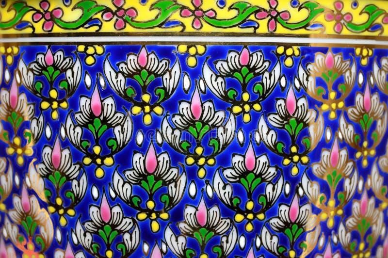 Thai benjarong porcelain texture royalty free stock image