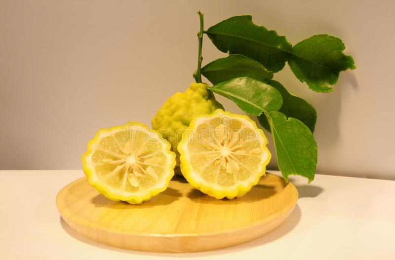 Thai Bergamot is vegetable royalty free stock image