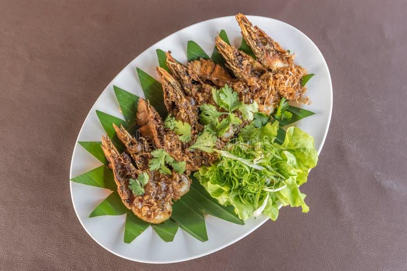 Thai beweegt Fried Mantis Shrimp stock foto