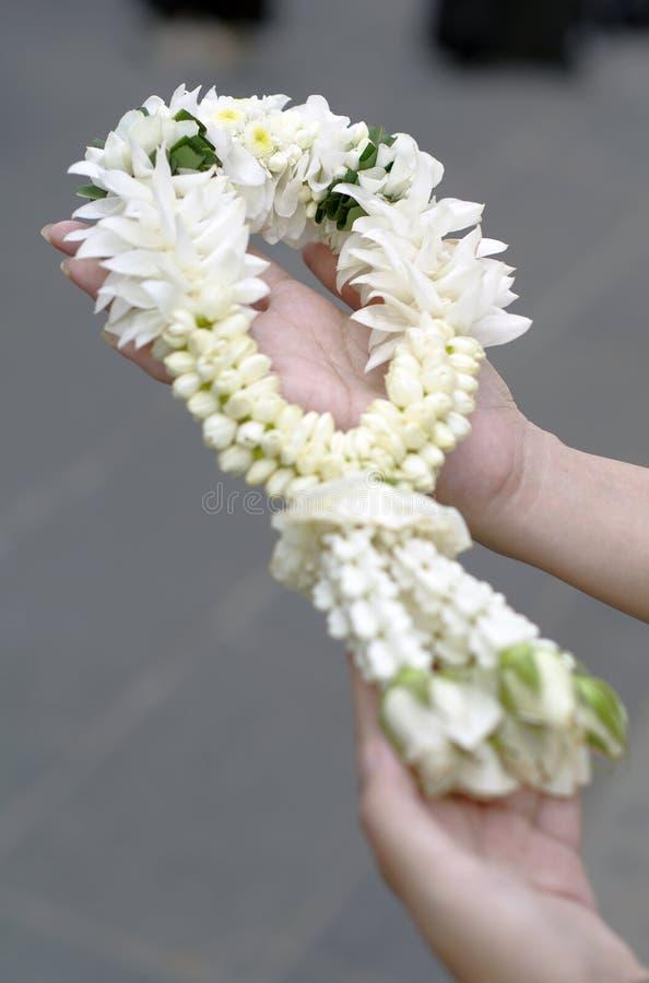 thai blommagirlander arkivbilder
