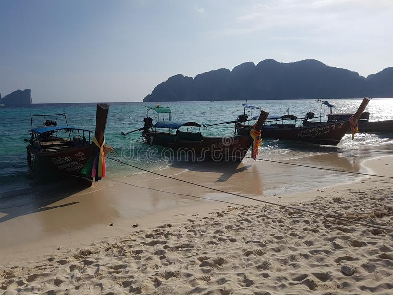 Thai boats royalty free stock image