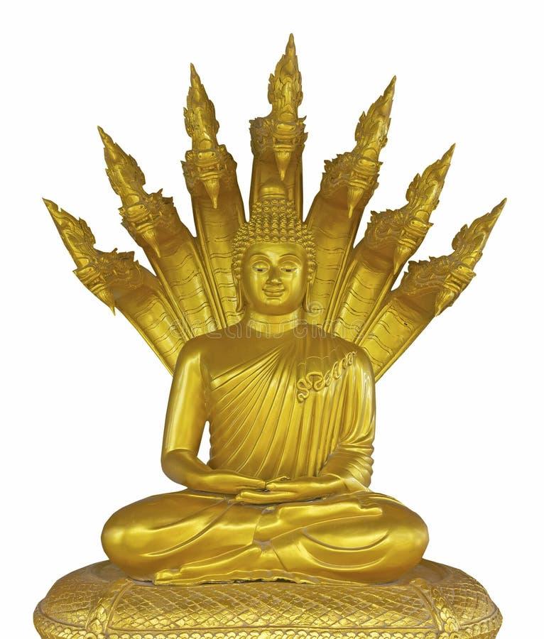 thai buddha guld- staty royaltyfria foton