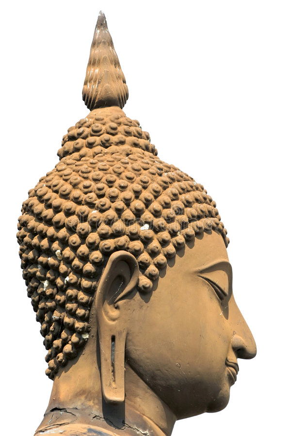 Thai buddha head isolated stock photography