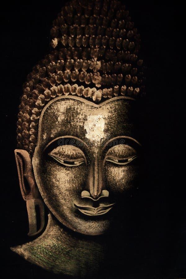 thai buddha målning arkivfoto