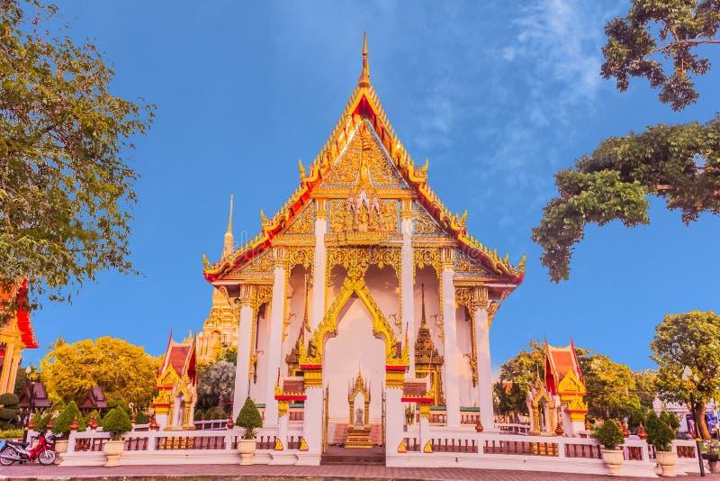 Thai Buddhist church of Chalong temple, Phuket, Thailand stock image
