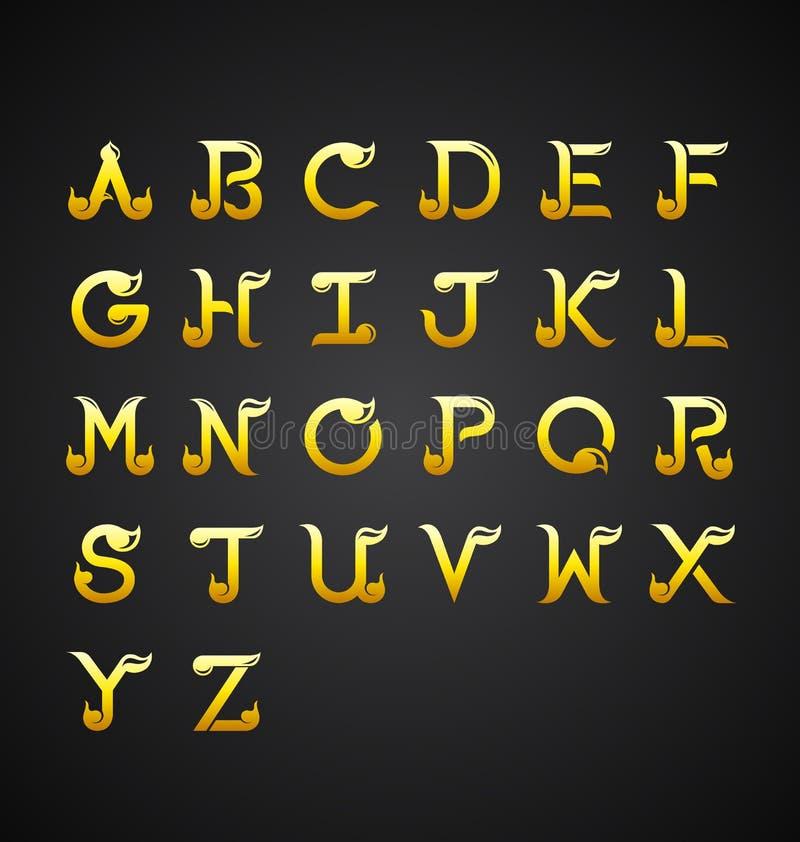 Thai Calligraphic Alphabet design-Vector Illustration royalty free illustration