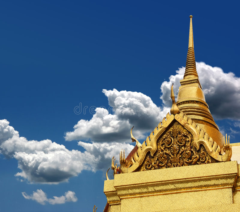 Download Thai chedi over blue sky stock image. Image of meditation - 6120373