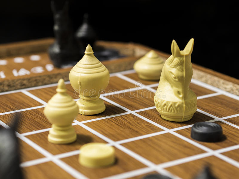 THai Chess. Thai-chess is hobby and sport in Thailand the player to must training his and her brain for Strategy to success stock photography