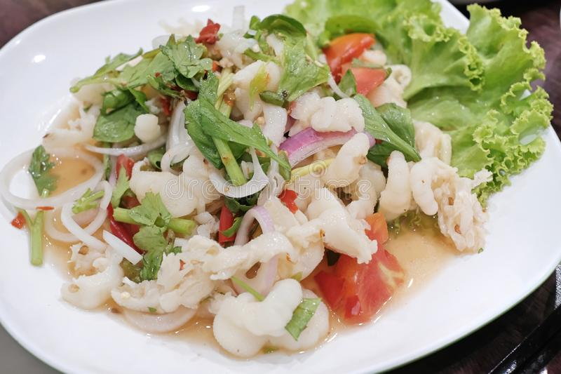 Thai Chicken Leg Salad & Spices. Thai Chicken Leg Salad royalty free stock photography