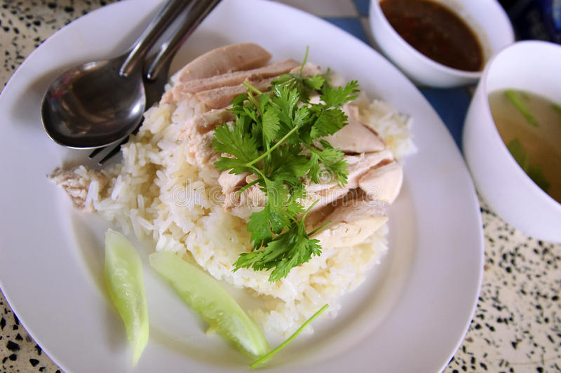 Thai chicken with rice royalty free stock images