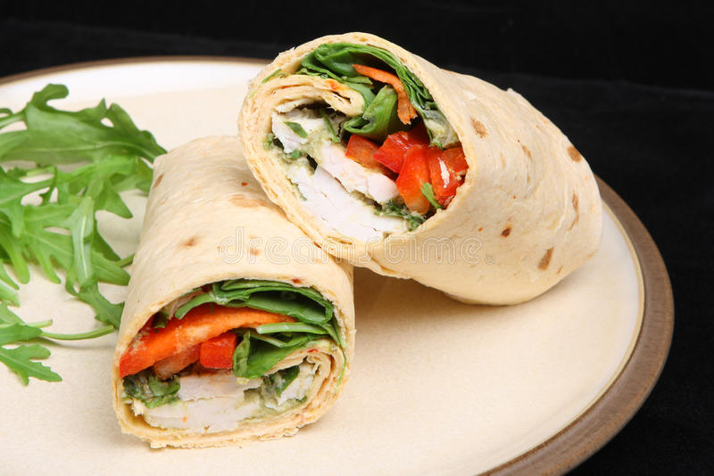 Download Thai Chicken Wrap stock photo. Image of lunch, spiced - 13459366