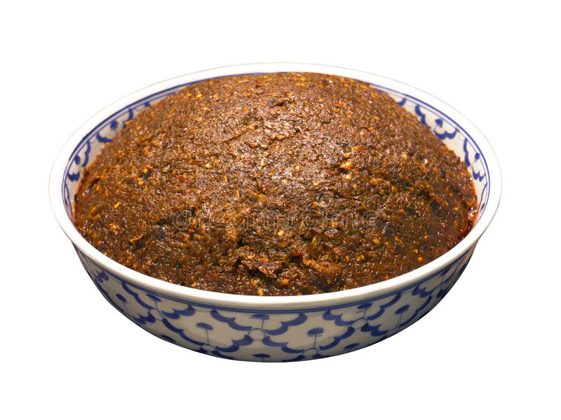 Thai chili paste stock image