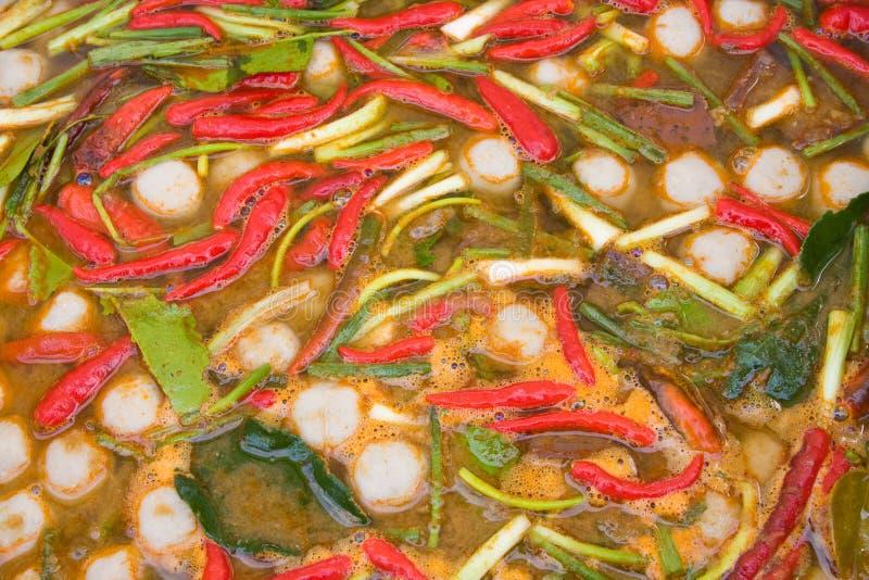 Thai Chili Soup Royalty Free Stock Image