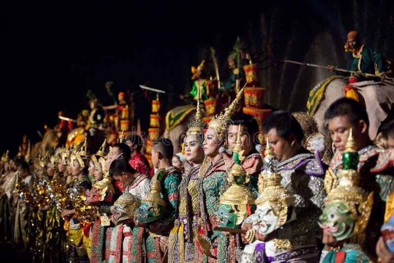 Thai classical masked ballet and Thai historical a
