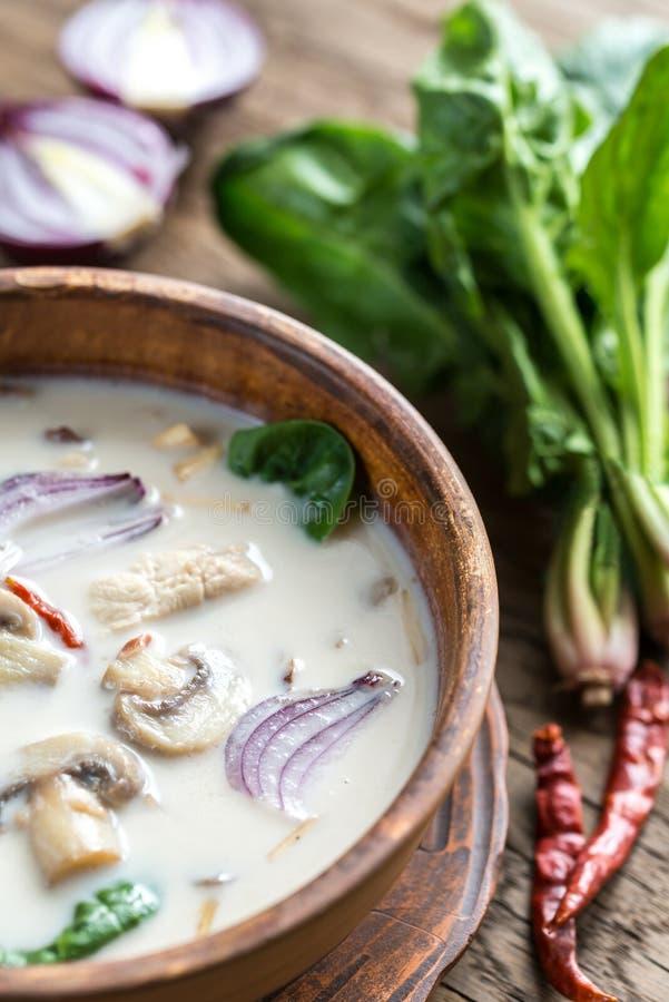 Thai coconut cream soup stock photos