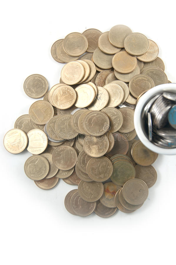 Thai Coins /two baht royalty free stock images
