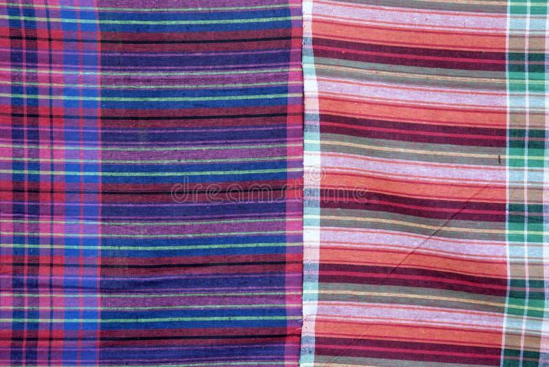 Thai fabric pattern background royalty free stock photos