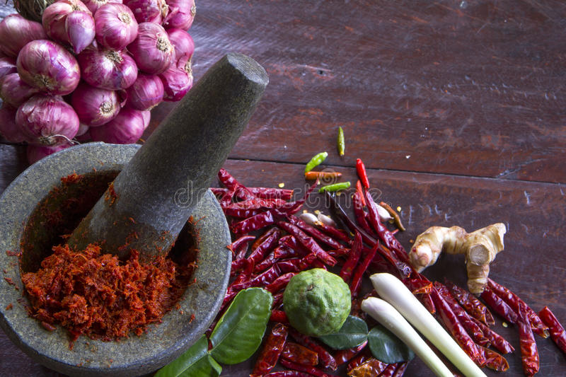 Thai Cooking. Chili paste in Thai cooking royalty free stock photos
