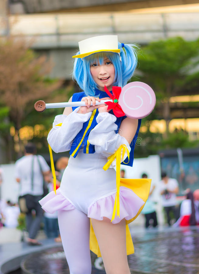 Free Thai Cosplay Star Idol Dress As A Character From Moetan Royalty Free Stock Photos - 31607068