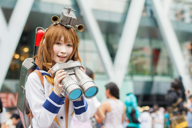 Thai cosplayers dress as the characters from cartoon and game in Japan festa in Bangkok. BANGKOK, THAILAND - AUGUST 30: Thai cosplayers dress as the characters stock images