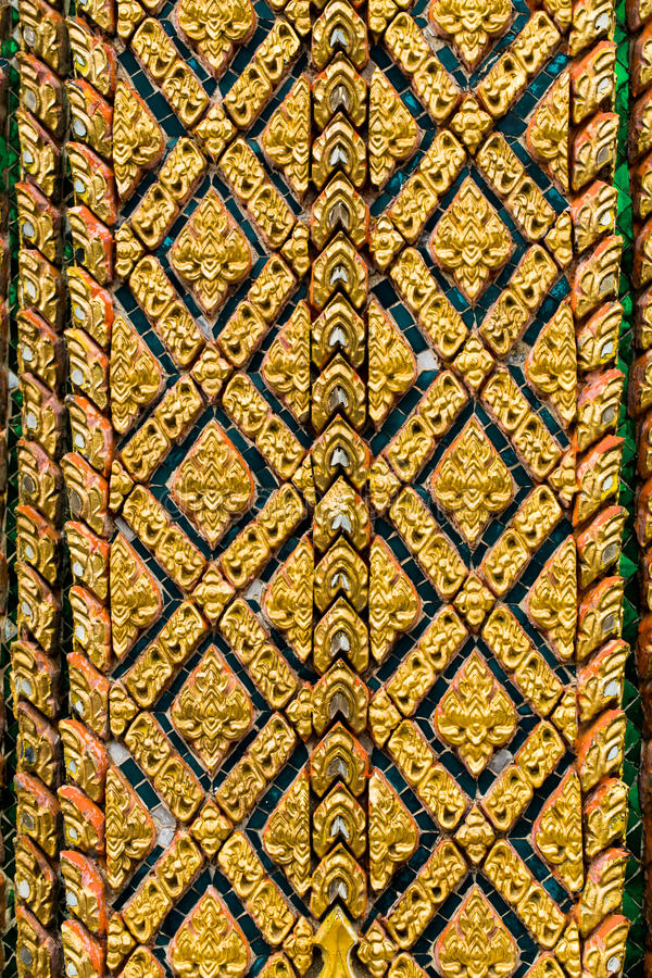 Thai Craft : LAI THAI pattern royalty free stock photography