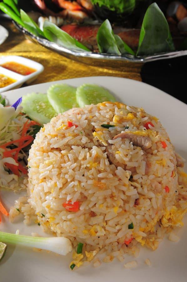 Thai Fried Rice. Thai cuisine style fried rice stock photos