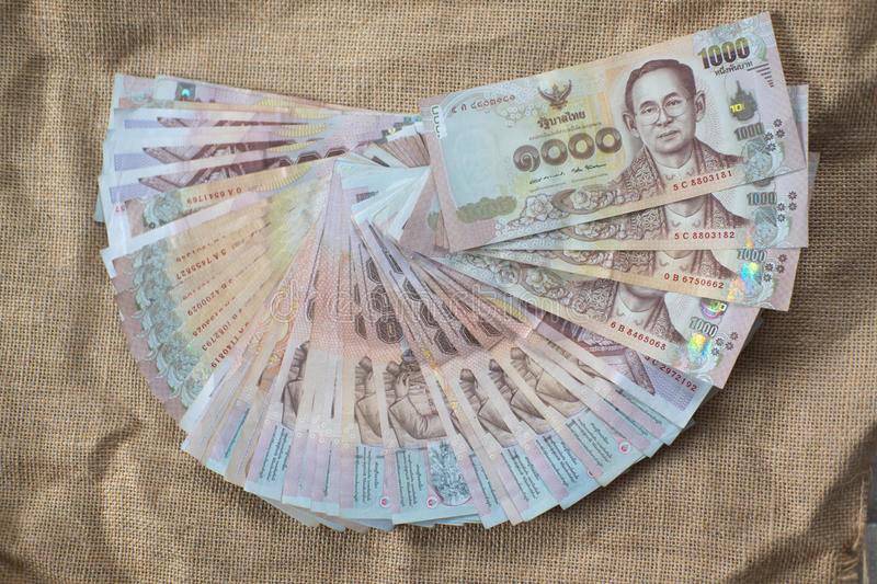 Thai Currency 1000 Baht stock images