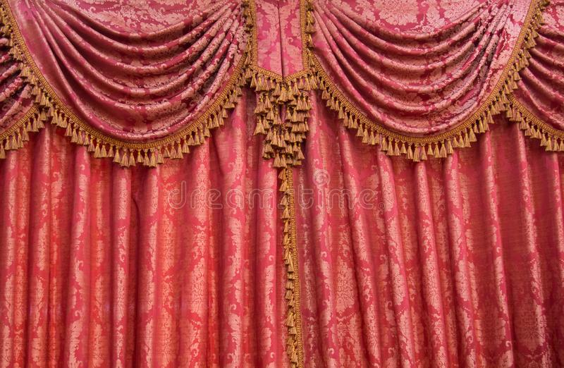 Thai curtain pattern. Wedding setup detail in Thailand stock images