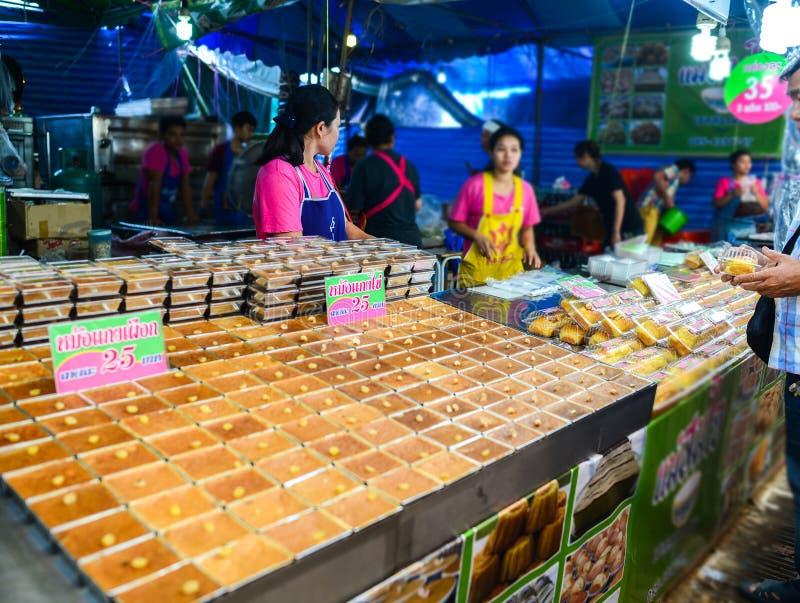 Thai Custard Dessert Recipe or Thai-Style Tigelada & x28;Portuguese sweet& x29;, Street food in Bangkok, Thailand royalty free stock photo