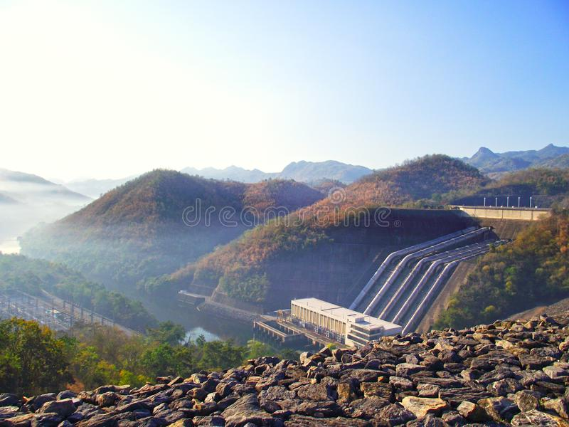 Thai Dam and great background stock image