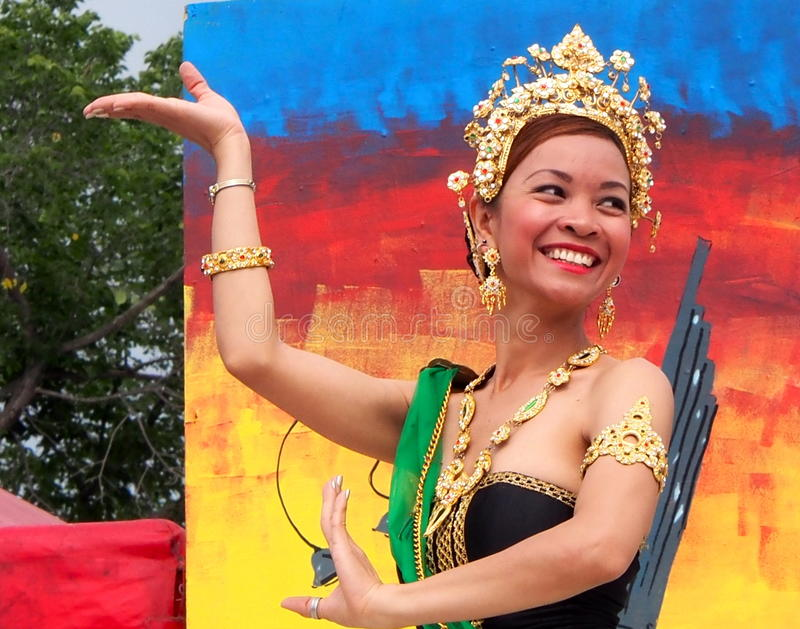 Thai Dancer At Edmontons Heritage Days 2013 royalty free stock photo
