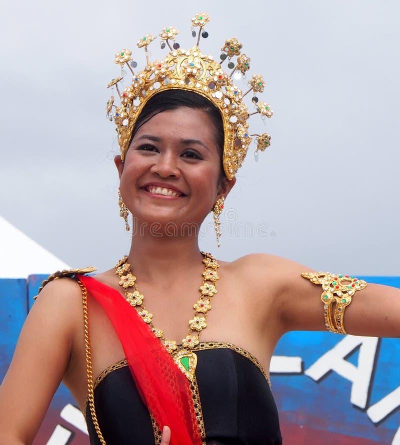 Thai Dancer At Edmontons Heritage Days 2013 royalty free stock photos
