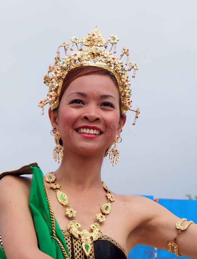 Thai Dancer At Edmontons Heritage Days 2013 royalty free stock images