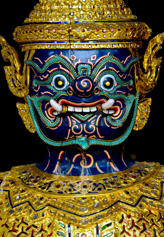 Free Thai Demon Royalty Free Stock Photography - 31735097