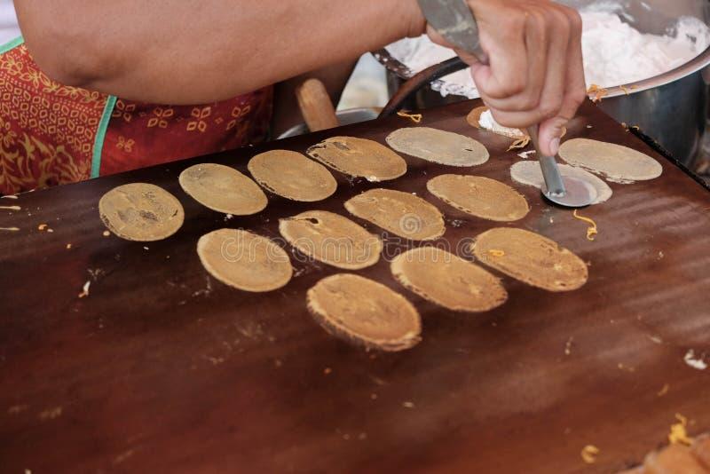 Thai deseert,pan cake stock images