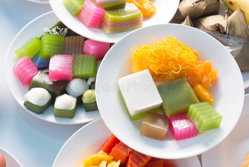 Thai dessert stock image
