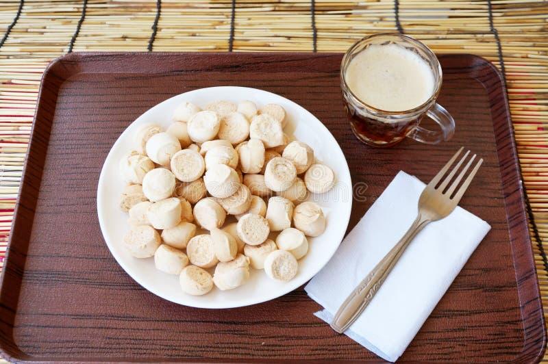 Thai dessert - Khanom Ping stock photos