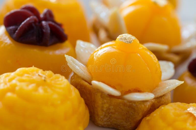 Thai dessert present. Well known traditional thai dessert present stock images