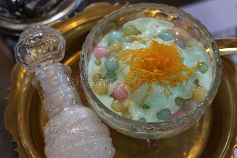Thai desserts, Thailand, bangkok, sweet, coconut. Thai desserts are one of Thailand`s culinary treasures. They are served on special occasions such as weddings royalty free stock images