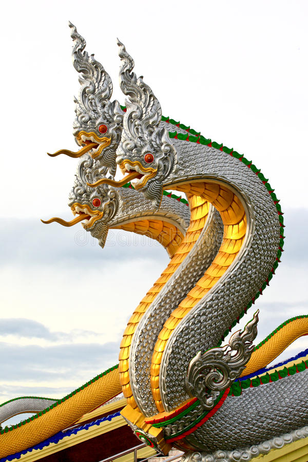 Thai dragon. In tample , thailand stock image