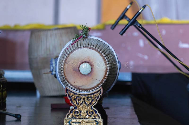 Thai drum traditional culture in Thailand. stock photography