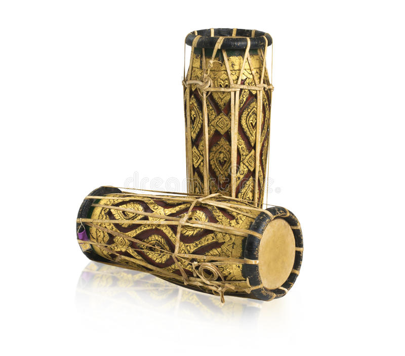 Thai Antique Drums Music Instrument Stock Image - Image of