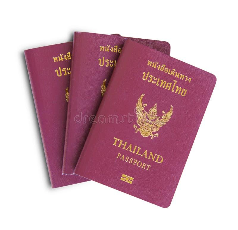 Thai electronic passports. Isolated on white background stock image