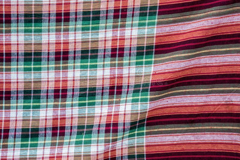 Thai fabric pattern background royalty free stock photography