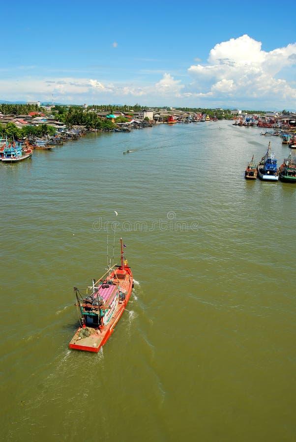 thai fartygfiske arkivfoton