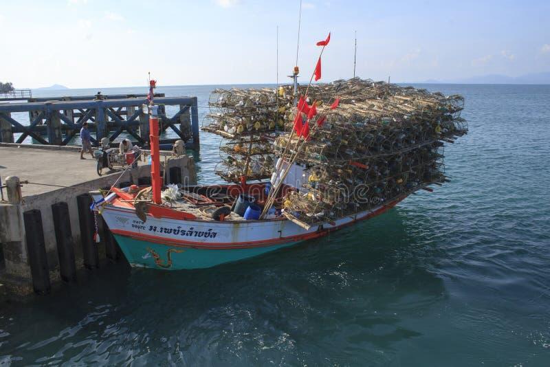 thai fartygfiske royaltyfri fotografi