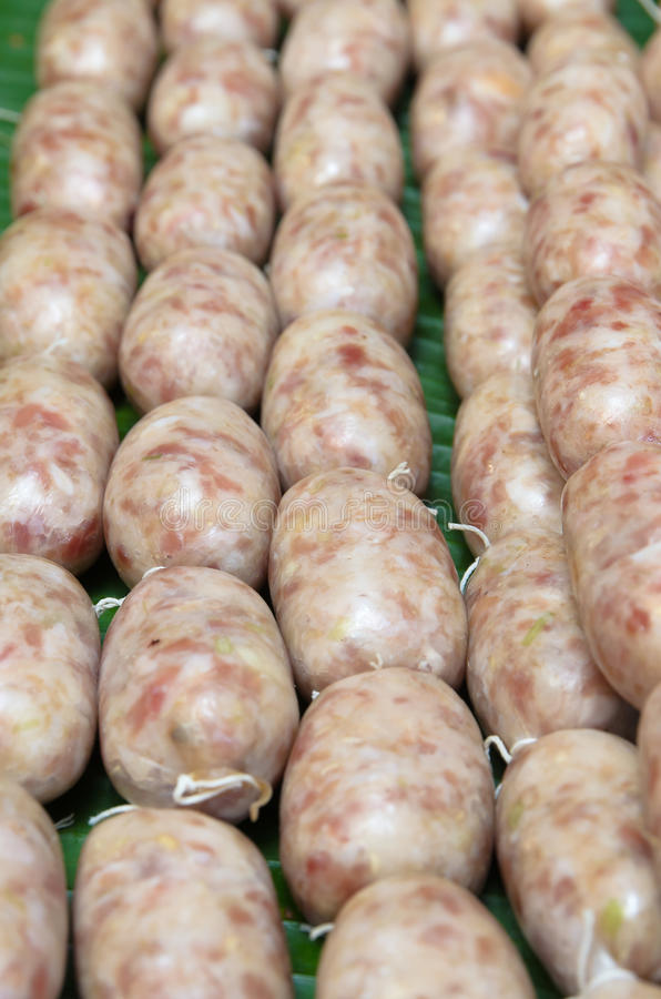 Download Thai ferment sour sausage stock image. Image of protein - 32850647