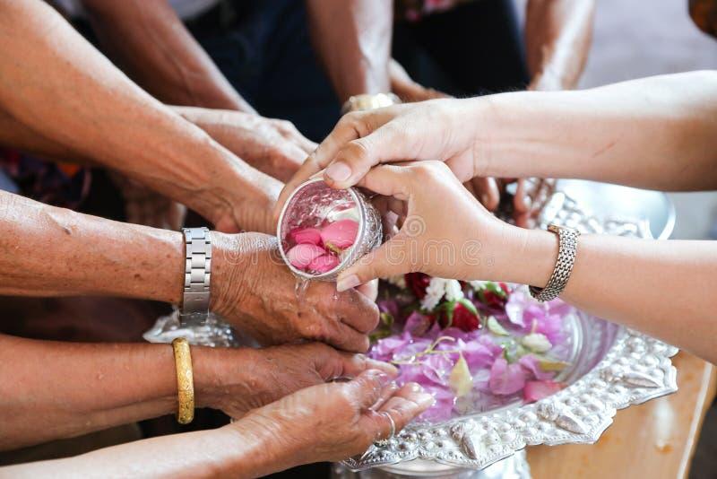 Thai festival Songkran stock image