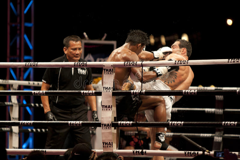 Download Thai Fight editorial stock photo. Image of sport, round - 22503818